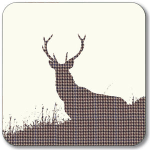 Stag (Tweed) Coaster<br>(Pack of 10)