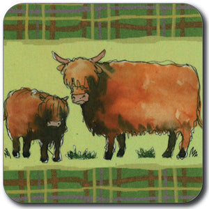 Highland Cows Coaster<br>(Pack of 10)