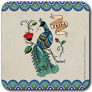 Frida Kahlo Peacock Coaster<br>(Pack of 10)