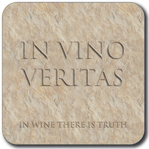 In Vino Veritas (In Wine there is Truth) Coaster<br>(Pack of 10)