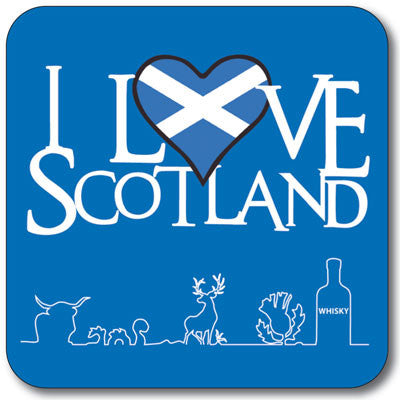 Love Scotland with Detail Coaster<br>(Pack of 10)