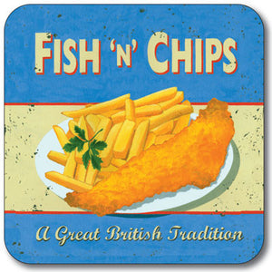 Fish N Chips  Coaster<br>(Pack of 10)