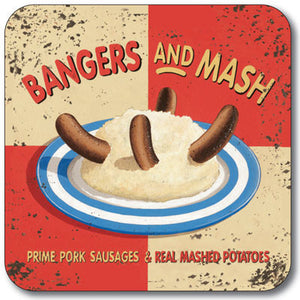 Bangers and Mash  Coaster<br>(Pack of 10)