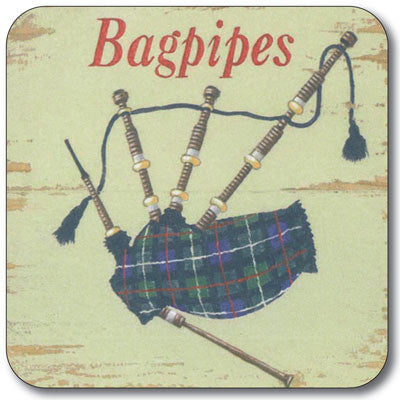 Scottish Icons Bagpipes  Coaster<br>(Pack of 10)
