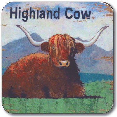 Highland Cow  Coaster<br>(Pack of 10)