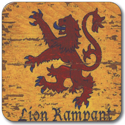 Lion Rampant  Coaster<br>(Pack of 10)
