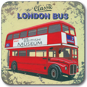 London Red Bus  Coaster<br>(Pack of 10)