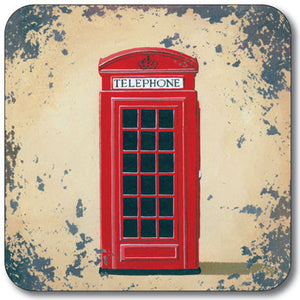 London Phone Box  Coaster<br>(Pack of 10)