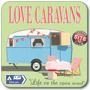 Love Caravans Coaster<br>(Pack of 10)