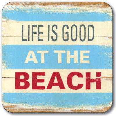 Life is Good at the Beach Coaster<br>(Pack of 10)