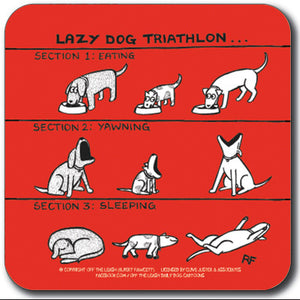 Lazy dog triathlon Coaster<br>(Pack of 10)
