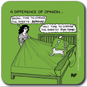 A difference of opinion Coaster<br>(Pack of 10)