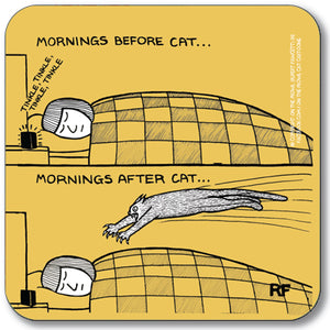 Mornings before cat Coaster<br>(Pack of 10)