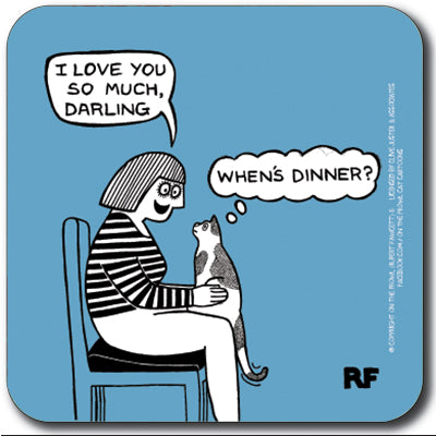 When's dinner? Coaster<br>(Pack of 10)