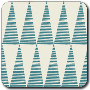 Tall Teal Triangles Rice  Coaster<br>(Pack of 10)