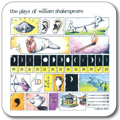 Spot the - Shakespeare Coaster<br>(Pack of 10)