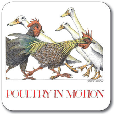 Poultry in Motion  Coaster<br>(Pack of 10)