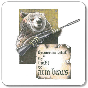 Right to Arm Bears Coaster<br>(Pack of 10)
