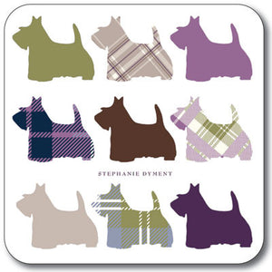 Multi Scottie  Coaster<br>(Pack of 10)