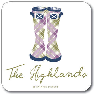 Highland Wellies  Coaster<br>(Pack of 10)