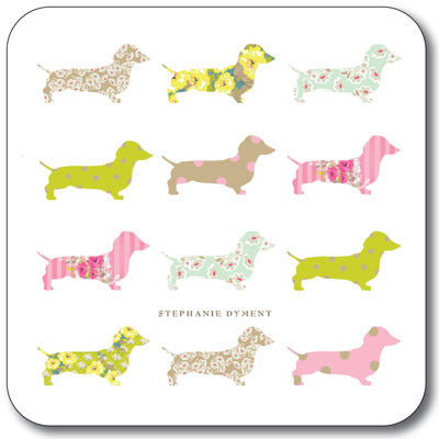 Multi Dachshund  Coaster<br>(Pack of 10)