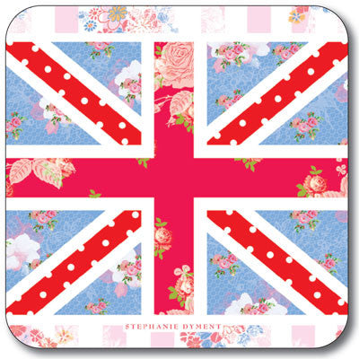 Union Jack pink stripe Coaster<br>(Pack of 10)