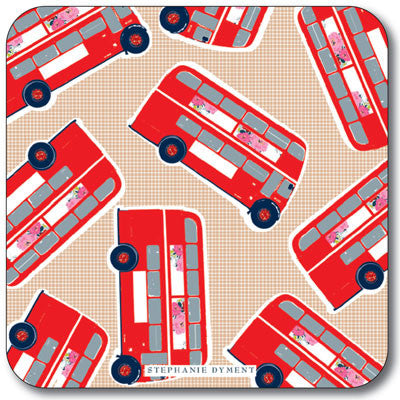 Union Jack London Bus Multi  Coaster<br>(Pack of 10)