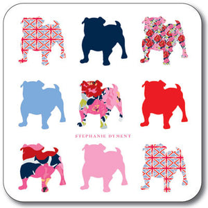 Union Jack Bulldog Buddies  Coaster<br>(Pack of 10)