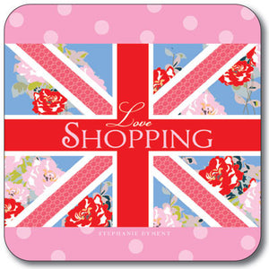 Union Jack Love Shopping  Coaster<br>(Pack of 10)