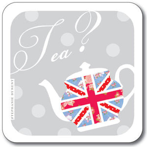 Union Jack Anyone for Tea ?  Coaster<br>(Pack of 10)