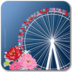 Union Jack London Eye  Coaster<br>(Pack of 10)