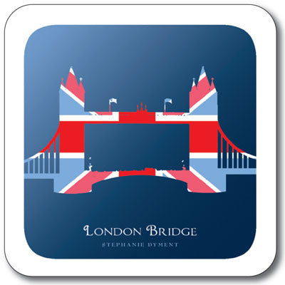 Union Jack London Bridge  Coaster<br>(Pack of 10)