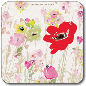 Red Poppy  Coaster<br>(Pack of 10)
