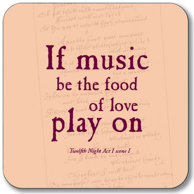 If Music be the Food of Love Coaster<br>(Pack of 10)