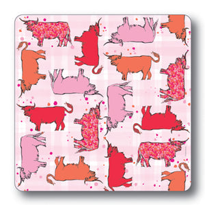 Highland Cow Repeat Coaster<br>(Pack of 10)