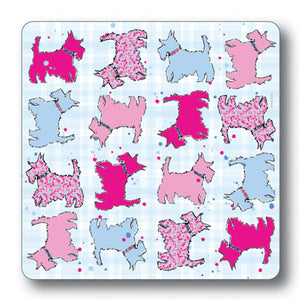 Scottie Dog Repeat Coaster<br>(Pack of 10)