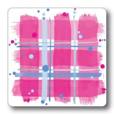 Pink Tartan Coaster<br>(Pack of 10)