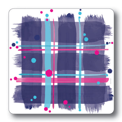 Navy Tartan Coaster<br>(Pack of 10)