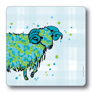 Ram Tartan Background Coaster<br>(Pack of 10)