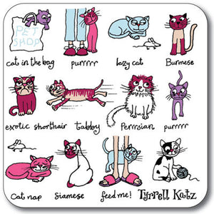 Cats Coaster<br>(Pack of 10)