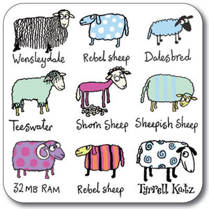 Sheep Coaster<br>(Pack of 10)