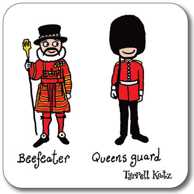 Beefeater and Queens Guard Coaster<br>(Pack of 10)