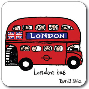 London Bus  Coaster<br>(Pack of 10)