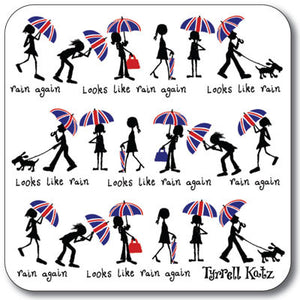 London Rain  Coaster<br>(Pack of 10)
