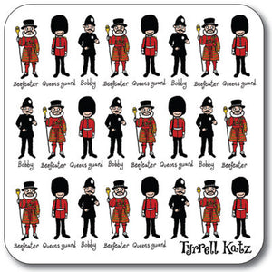 London Queens Guard  Coaster<br>(Pack of 10)