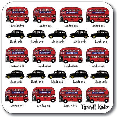 London Small London Bus Coaster<br>(Pack of 10)