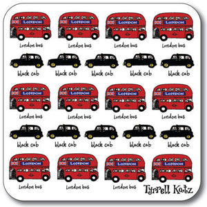 London Buses & Taxis Coaster<br>(Pack of 10)