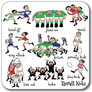 Rugby  Coaster<br>(Pack of 10)