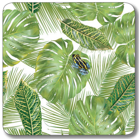 Frog with Leaf Background Coaster<br>(Pack of 10)