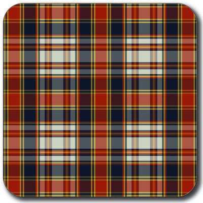 Tartan 3 Coaster<br>(Pack of 10)